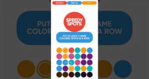 Speedy Spots: hektisches Match-3-Puzzle gegen einen endlosen Stapel Bälle