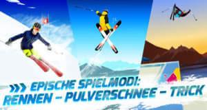Red Bull Free Skiing: kostenloses Wintersport-Spiel mit drei Modi