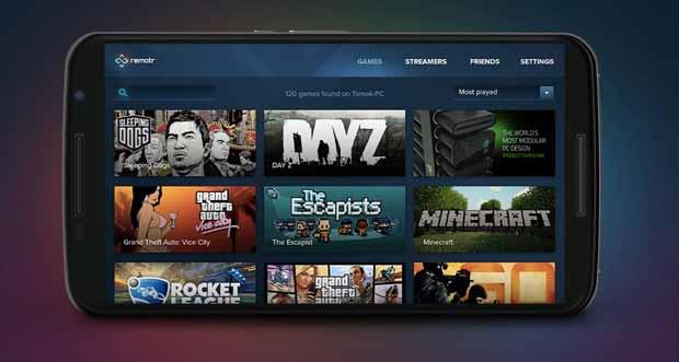 Computerspiele mit der Remotr App mobil spielen