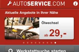 """Kostenlose App """"autoservice"""": nützlicher Helfer für alle Autofahrer"""