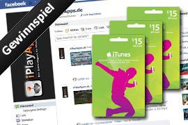 Erinnerung an unser Gewinnspiel: 3 iTunes-Gutscheine im Wert von je 15 Euro zu gewinnen