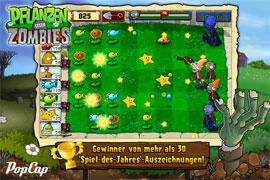 """""""Pflanzen gegen Zombies"""" für iPhone & iPad wieder einmal günstiger"""