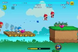 """Kostenloses Jump'n'Run-Spiel """"Turbo Kids"""": im Wettrennen mit anderen Kids"""